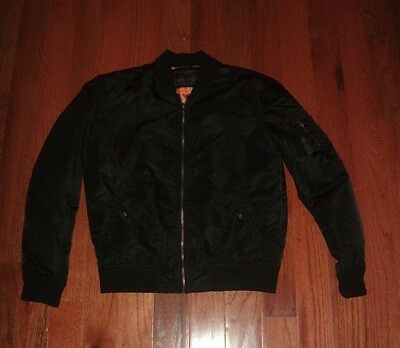 21 Men Los Angeles Bomber Jacket Men's size Small black lined