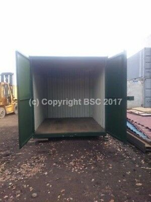 10ft refurbished repainted shipping container Birmingham (painted,flat doors)