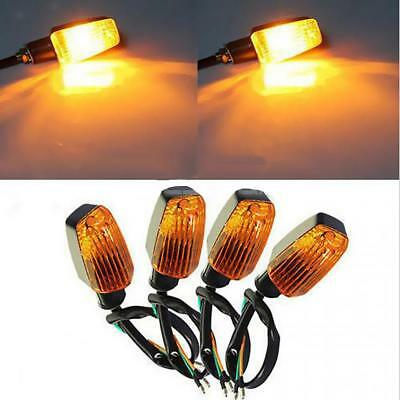 4 Pieces Amber Universal Motorcycle Scooter Turn Signal Indicator Blinker