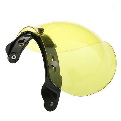 Motorcycle 3 Snap Helmet Visor Shield Flip Up Down Lens for Harley-Yellow