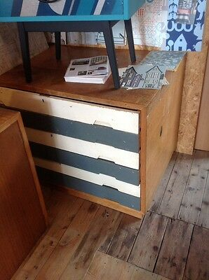 vintage old school plan chest map drawers