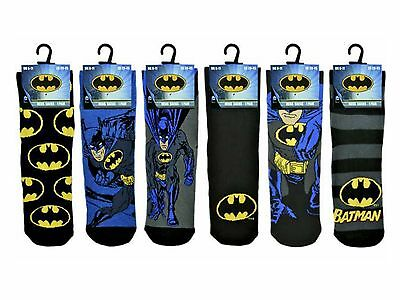 3 Mens Batman 100% Official Cartoon Novelty Character Socks UK 6-11