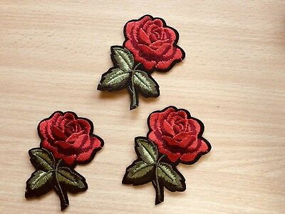 1 Rose Floral Embroidery Clothing Iron-On Patch Applique