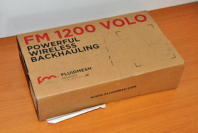 Fluidmesh Networks FM1200 VOLO Ethernet Radio - Boxed with PoE Injector