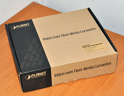 Planet Video over Fiber Media Converter Kit RS-485 BNC 2km - VF-101-KIT