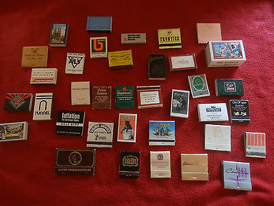 Vintage Matches Match Books Assorted From Australia Usa & Europe 36 Total