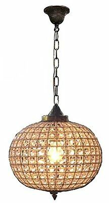 "12"" Bronze Antique Replica Brass French Empire Crystal Ceiling Lamp Globe Ball"