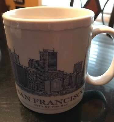 Starbucks Mug Cup 2008 City By The Bay San Francisco 18 Oz Architecture Series