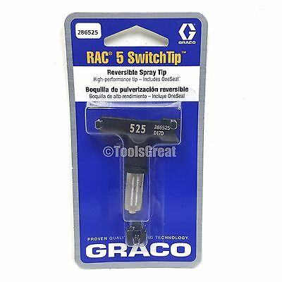 Graco Rac 5 286525 Switch Tip Paint Spray Tip Size 525