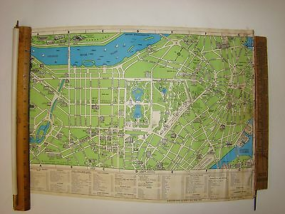 Reduced! Vintage In-A-Cane American Legion Cane Pull out Map of Boston, MA