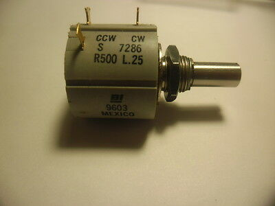 Bi Technologies 500 Ohm.BI-7286R500  Potentiometer 7286R500 L.25 10 Turn.mexico.