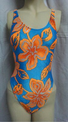 Multicolored Floral Pattern Leotard for Women size 10 Small