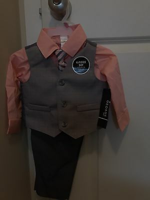 NWT George Baby 4-piece Dressy Vest Suit w/ Tie Set 18 Months Infant