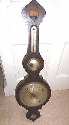 James Carson Watchmaker Maryport . Onion Top Antique Barometer.