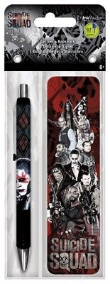Gel Pen + Bookmark - Suicide Squad - Packs Toys Gifts Set Stationery New iw3582