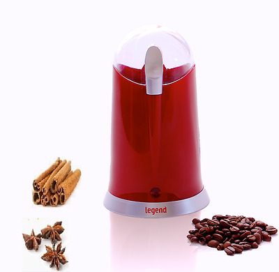 Legend Electric Coffee Bean Grinder 160W Bean Nut Spice Grinder Mixer Red