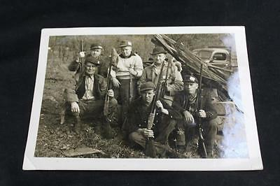 Antique Vintage 1920s / 1930s Family Hunting Photo Men & Boy w/Guns - Free S&H