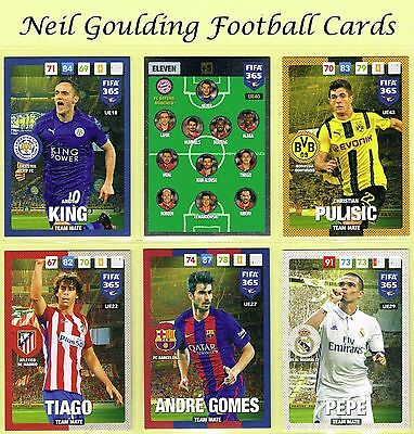 PANINI - FIFA 365 2016-2017 'UPDATE' Team Mate & Eleven Football Cards #1 to #88