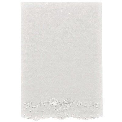 """Pure Linen 12"""" X 16"""" White Baby Pillowcase with Madeira Bowknots and Dots"""