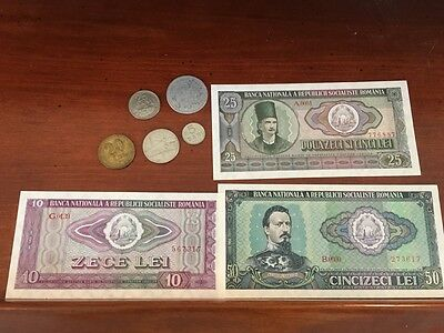 ROMANIA OLD VG USED OLD 10 LEI BANKNOTE BILL NOTE CURRENCY PAPER MONEY & Coins