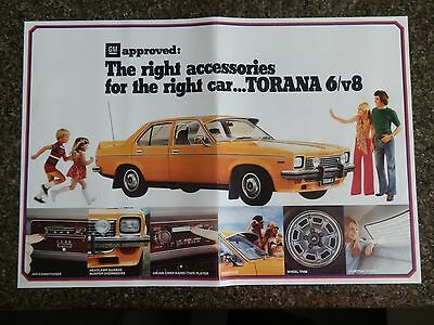 Holden 1974  Lh Torana Accessories Sales Brochure