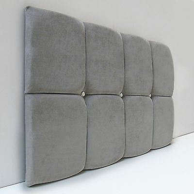 Cube Designer Headboard Bed Head In Leather, Chenille, Suede, Crushed Velvet