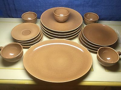 Iroquois Casual China Russel Wright Full Set Brown/Nutmeg