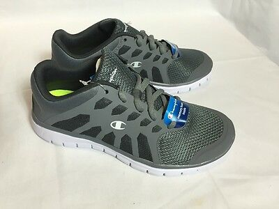 6a546fdfad9 NEW MEN S CHAMPION Cut-Out Gusto Runner Grey Sneakers Shoes Size 6.5 ...