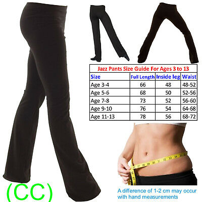 Ladies Girls Boys Men Dance Cotton Spandex Jazz Pants Trousers SHORT LEG (CC)