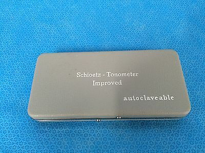 Schoitz Tonometer weights (4), Improved. In case. Tonometer not included