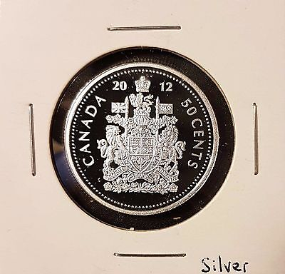 2012 50 Cent Canada SILVER Proof - Heavy Cameo - From Mint Set