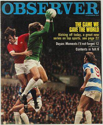 Bobby Moore GEORGE BEST football General Dayan JILLY COOPER Observer magazine UK