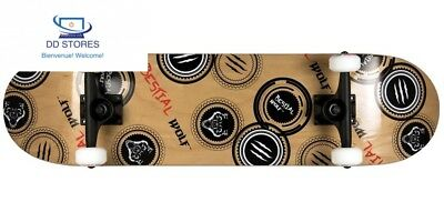 Bestial Wolf Madness Skateboard, bois/Noir/Rouge, Taille unique