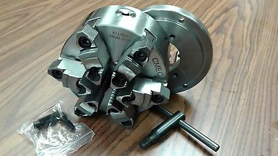 "6"" 6-JAW SELF-CENTERING  LATHE CHUCK w. top&bottom jaws w. D1-4 adapter-new"