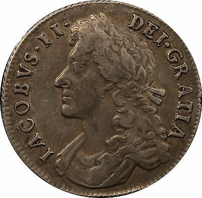 1685 James II shilling coin