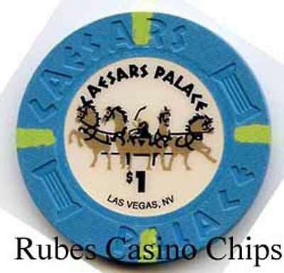 1.00 Chip from the Caesars Palace Casino in Las Vegas Nevada Large Inlay