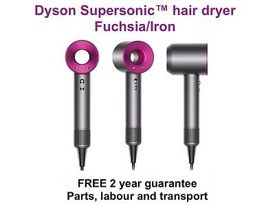 NEW Dyson Supersonic Hair Dryer Fuchsia/Iron 306013-01 - FREE 2 year guarantee