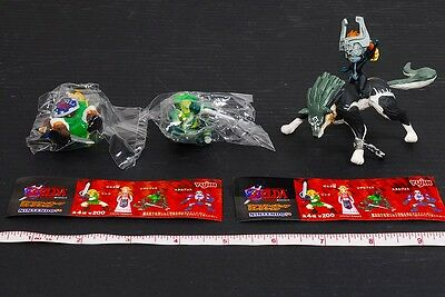 RARE!! The Legend of Zelda Real Figure Collection Link Lizalfos Wolf Midna #D196