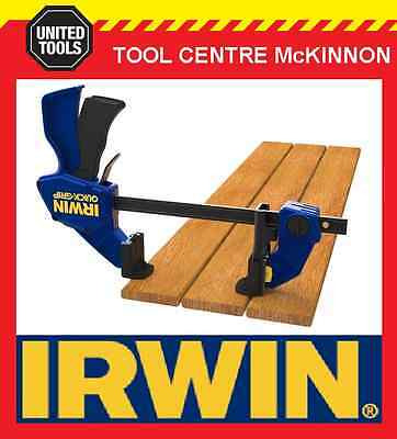 "IRWIN QUICK-GRIP 12"" / 300mm ONE HANDED BAR CLAMP WITH DECK TOOL KIT"