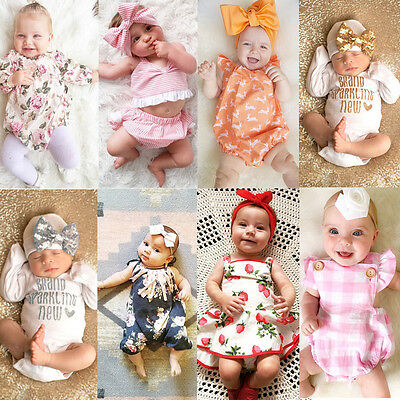 AU Stock Toddler Infant Baby Girls Lace Romper Bodysuit Jumpsuit Outfit Clothes