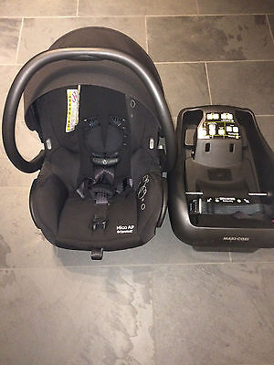 Maxi-Cosi Mico AP Infant Car Seat, Black with additional base