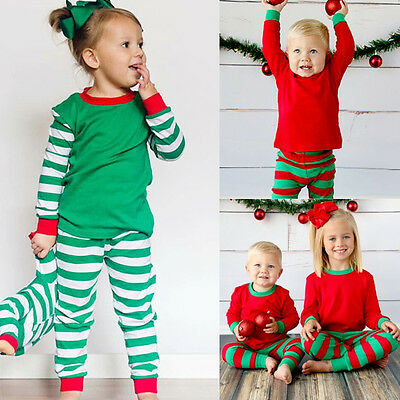AU STock Christmas Infant Kids Baby Girls Boys Pajamas Pjs Nightwear Outfit Set