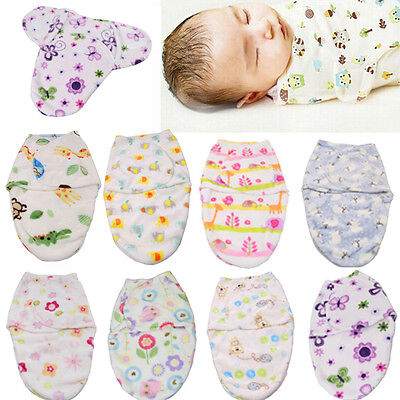 AU Stock Newborn Soft Swaddle Warm Swaddling Wrap Blanket Baby Soft Sleeping Bag