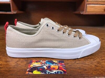 46d0833fb1b New Converse Jack Purcell Jack OX Canvas Tan White 151495C Mens Sizes 3 - 13