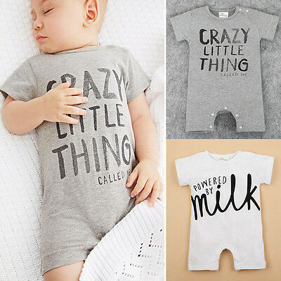 AU STOCK Newborn Baby Bodysuit Romper Infant Boy Girls Jumpsuit Clothes Outfit