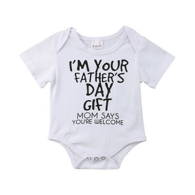 AU Stock Newborn Baby Boys Girls Romper Top T-shirt + Pants Outfit Set Clothes