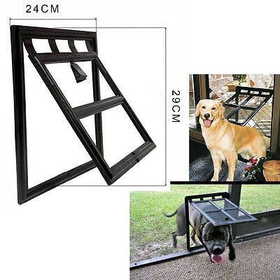 "Pet Cat Kitten Dog Supply Lock Lockable Safe Flap Door Black 9.8"" x 7.9"" PS043"