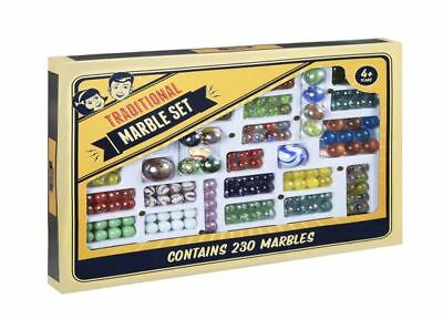Traditional Glass MARBLES Game - 230 Glass Marbles Set