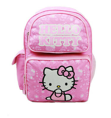 Small Backpack - Hello Kitty - Pink New School Bag Book Girls 811089