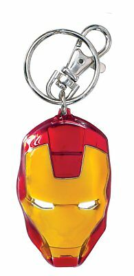 Metal Key Chain - Marvel - Iron Man Head Color Filled Pewter Toys New 67971